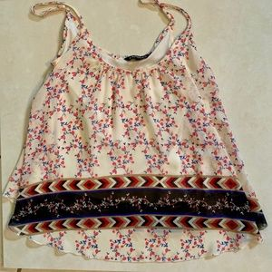 Express *Floral Rose Flower Tank Top*  -Size XS